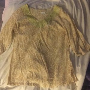 Gold blouse!